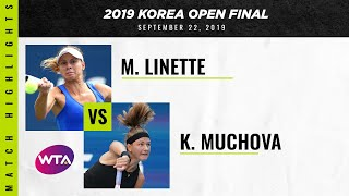 Magda Linette vs. Karolina Muchova | 2019 Korea Open Final | WTA Highlights