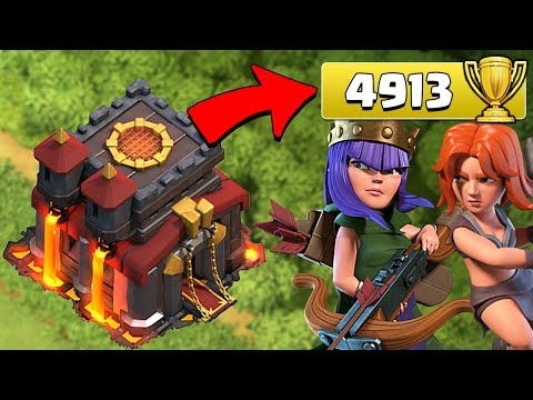 100 to go!  NEW STRATEGY!  TH10 TROPHY PUSH to LEGEND LEAGUE ep9 | Clash of Clans