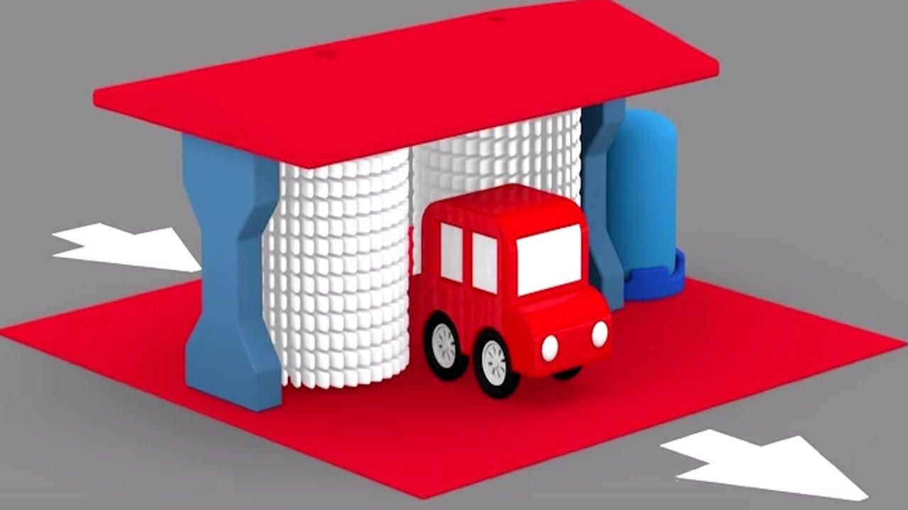 Çizgi Film -Çizgi Dizi -  3D Animasyon -  4 Araba Oto yıkamacıda renkleri öğretiyor