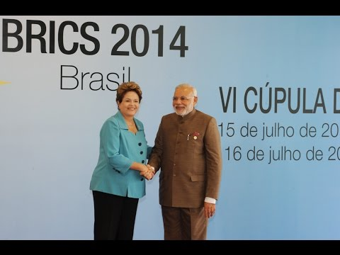 PM Narendra Modi at the First Working Session of the Sixth BRICS Summit