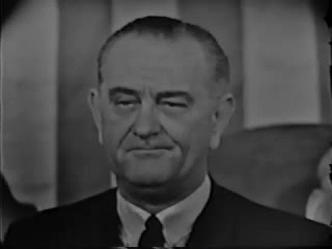 LBJ State of Union War on Poverty