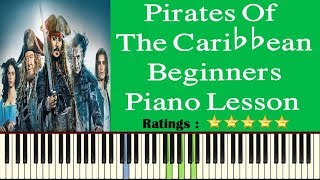 Pirates Of The Caribbean Piano Tutorial For Beginners - Pirates Of The Caribbean Piano Tutorial