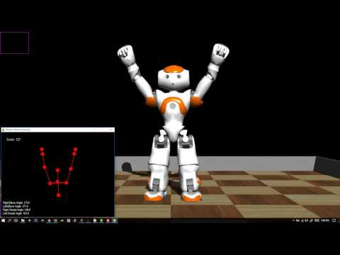 NAO + Kinect Exercise Instructor (First Simulated Demo)