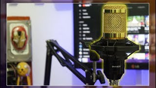 BM-800 Condenser Microphone | Unboxing & 3 Way Test Review + Unboxing Knife