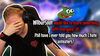 Wilbur explains his hatred for Anteaters whilst I play Rocket League...