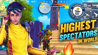 World Record Highest Spectators In The World- Wolfrahh Character Solo Vs Duo Gameplay Free Fire🙂