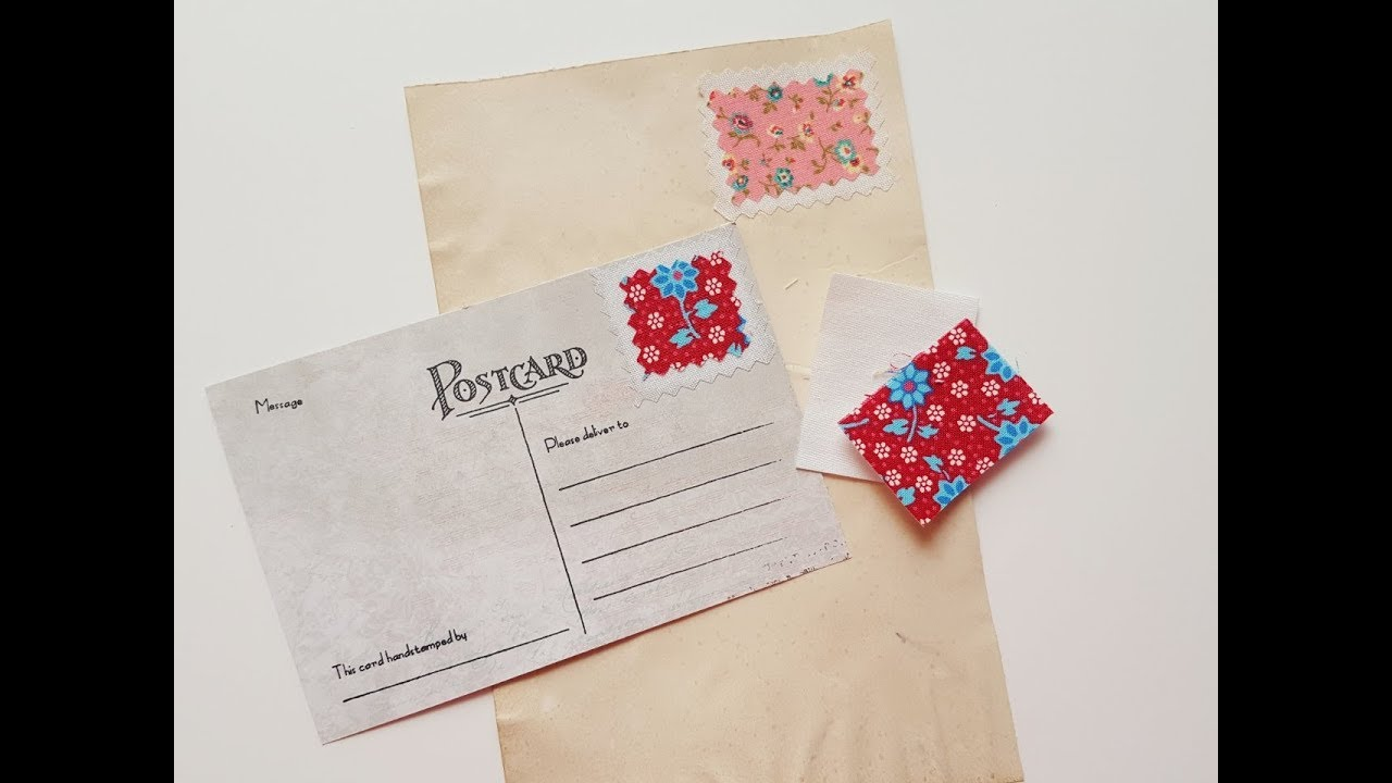 fabric stamps for junk journals and envelopes process tutorial