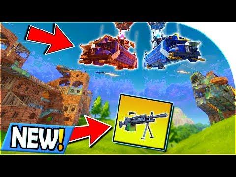 *NEW* LIGHT MACHINE GUN + 50 vs 50 V2 GAMEMODE in Fortnite: Battle Royale NEW UPDATE