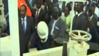 Inauguration de l'usine de bétail par le président Blaise Compaoré