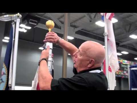 Uncommon USA Flagpoles at NFDA 2013