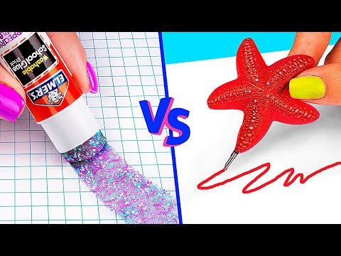 10 DIY Mermaid School Supplies vs Fairy School Supplies thumbnail