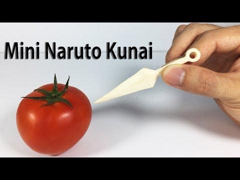 How To Make Mini Popsicle Stick KuNai, Naruto Ninja Weapons