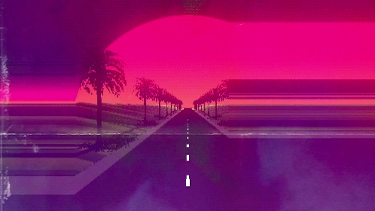 Anime Mix Wallpaper On The Nightway Synthwave Chillwave Retrowave Chill