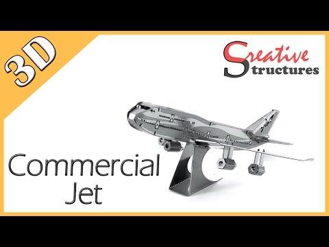 3D metal model & puzzle - Commercial Jet (Aviation)