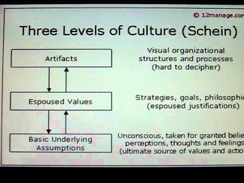 three levels of corporate culture