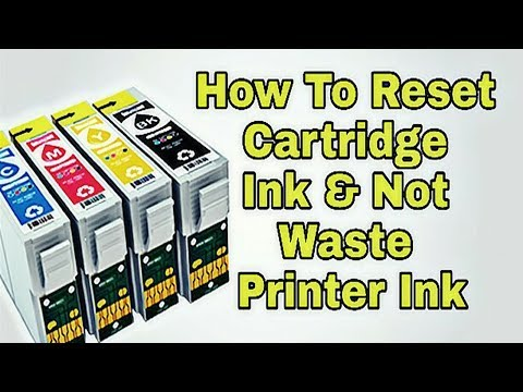 How to reset cartridge ink and not waste printer ink - YouTube