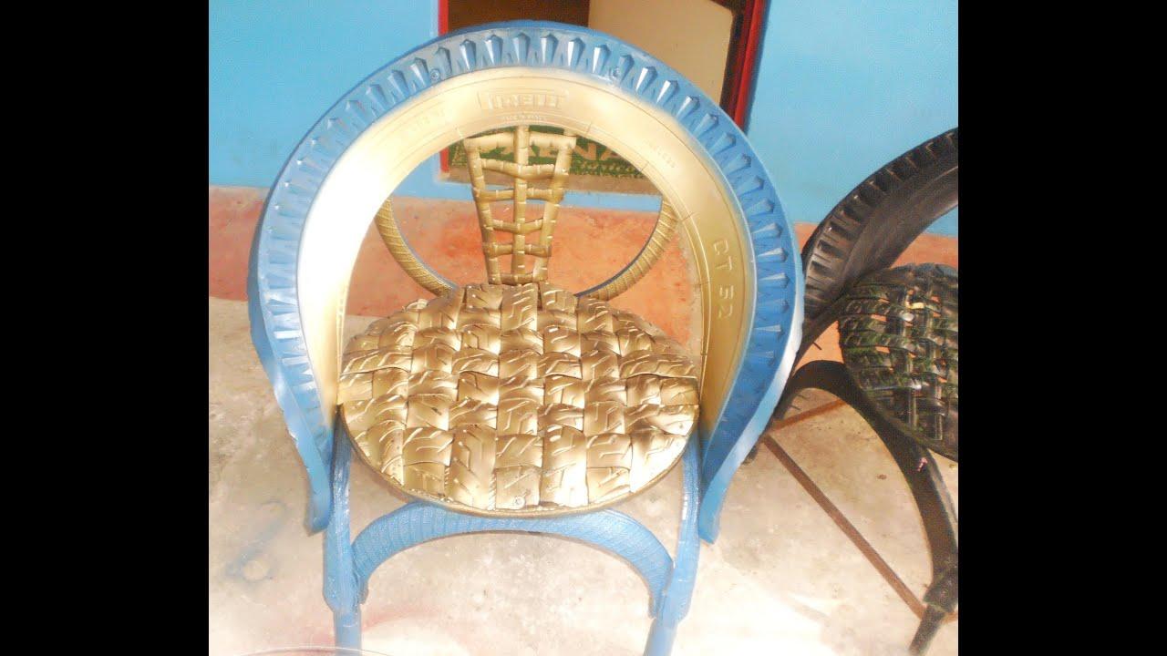Como hacer sillas con llantas recicladas procedimiento - Cosas para el jardin ...