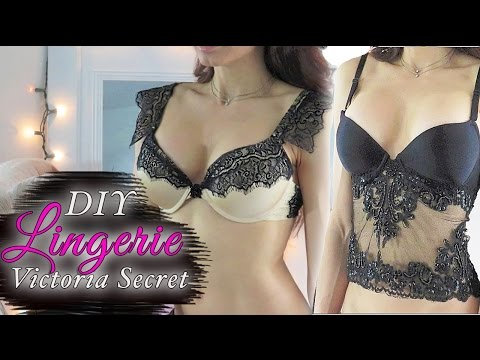 DIY Victoria Secret Lace Bra and BustierYouTube