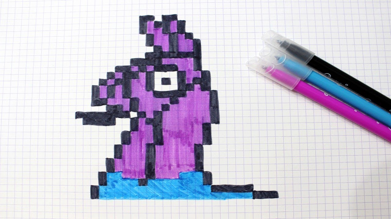 Lama de Fortnite en Pixel Art !