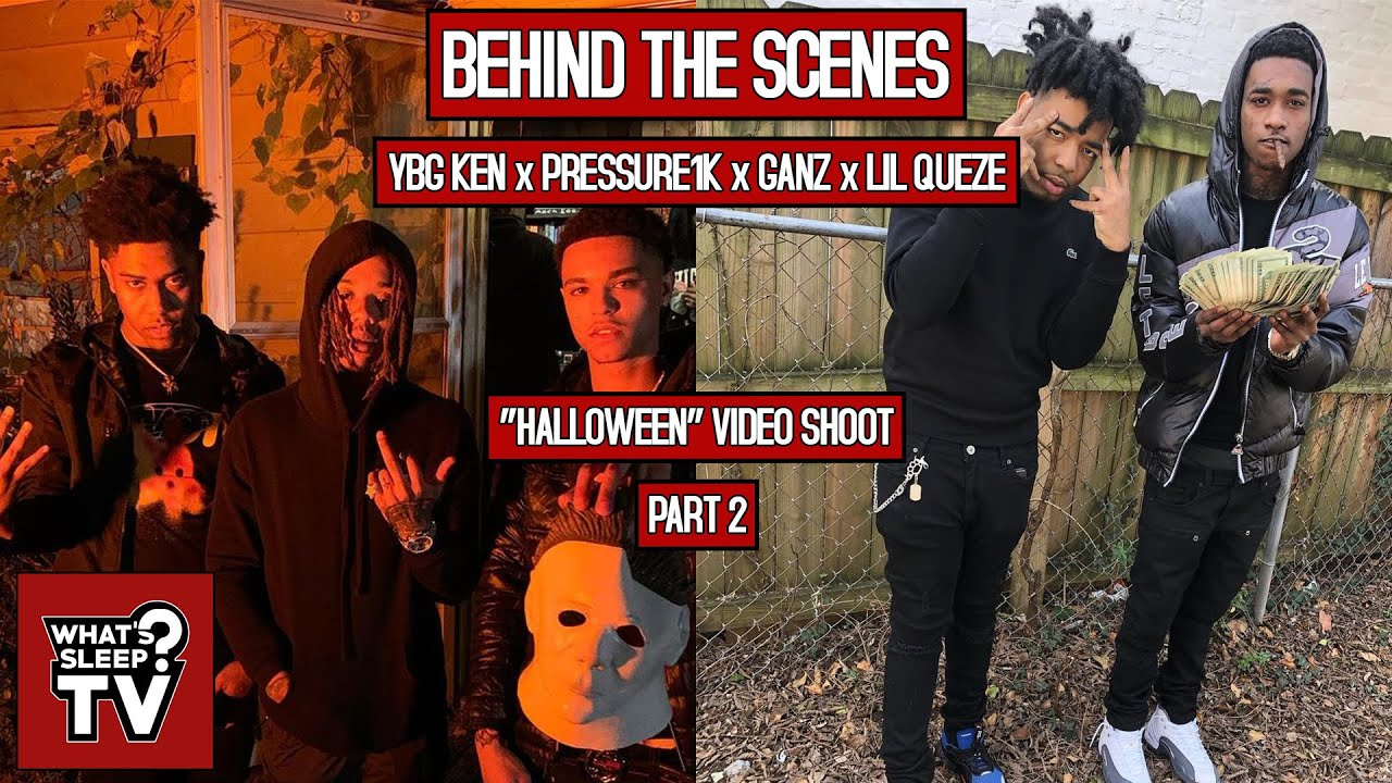 Behind The Scenes Of Lil Queze, Pressure1k, YBG Ken, & Ganz' 'Halloween' Video Shoot (Part 2)