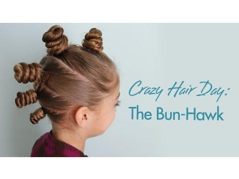 bun-hawk crazy hair day
