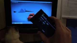 Unsuccessful video recording of integration AndroidPadUDP and bad cat :)