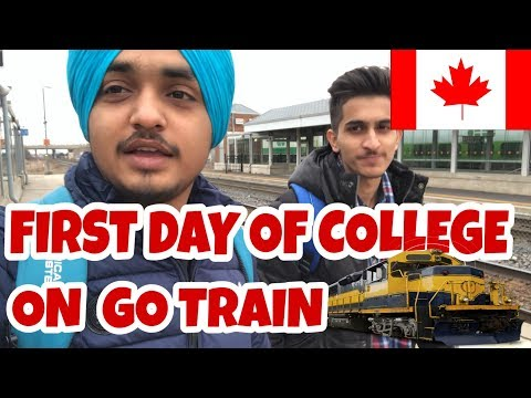 First Day of College on GO TRAIN | Northern College | Downtown Toronto