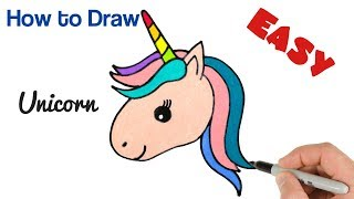 How to Draw Unicorn Head Super Easy and Cute drawing