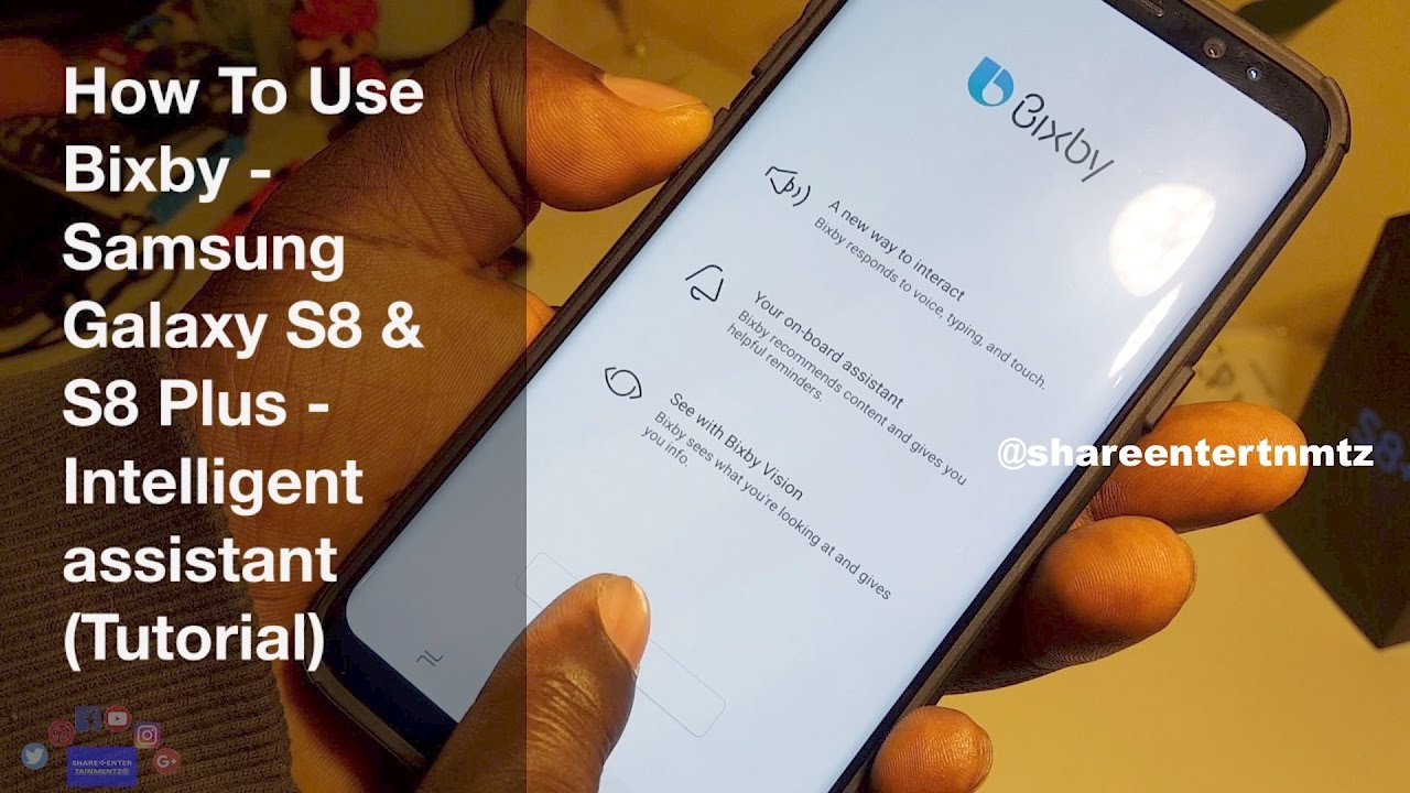 How To Use: Bixby - Samsung Galaxy S8 - S8 Plus - Note 8 ...
