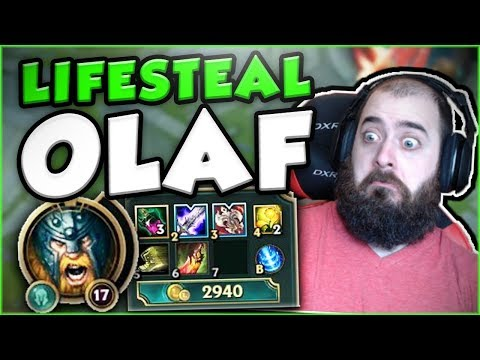 Download Youtube: HOW STUPID IS FULL LIFESTEAL (58%) ON OLAF? OLAF TOP GAMEPLAY SEASON 7! - League of Legends