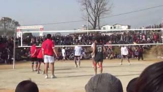 syangja vs rupandehi volleyball game in pokhara