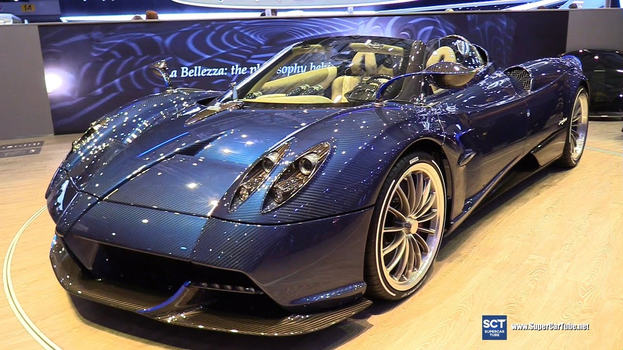 2018 Pagani Huayra Roadster Exterior Interior Walkaround Debut