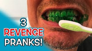 3 REVENGE Bathroom Pranks!!