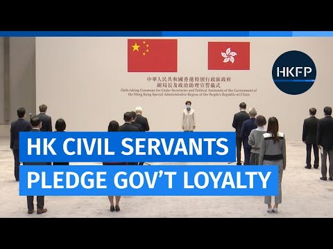 Hong Kong civil servants pledge allegiance to the gov't