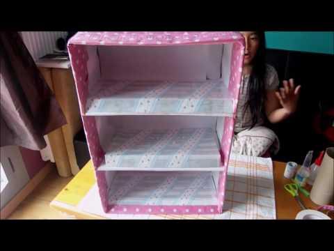 Organizador de zapatos con carton de leche y cajas de - Organizador de zapatos ...