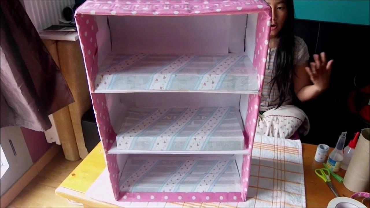 Organizador de zapatos con carton de leche y cajas de - Manualidades con cajas de zapatos ...