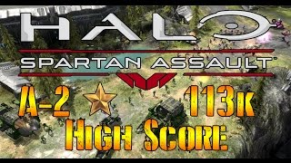 Halo: Spartan Assault Mission A-2 113k high score gameplay