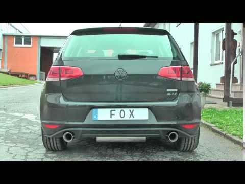 fox sportauspuff vw golf vii 2 0l tdi youtube. Black Bedroom Furniture Sets. Home Design Ideas
