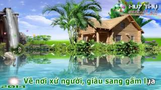Bến sông chờ - Karaoke MV (Full Beat) ✔
