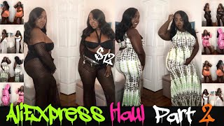 AliExpress haul part 2 plus size baddie in $12 clothes sizes xl, xxl