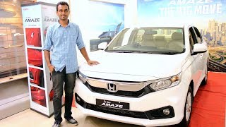 Honda Amaze 2018 | Short Review - HINDI | First On YouTube