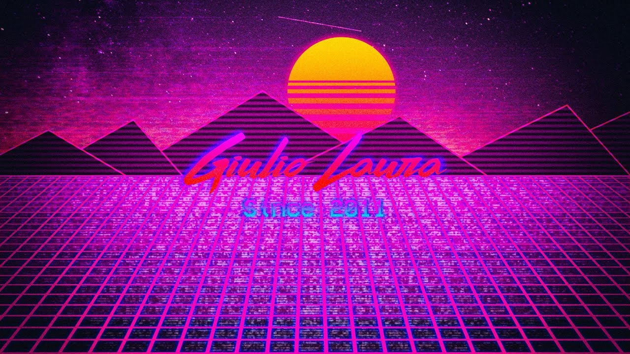 Speed Art 80s Background Based On My Intro Vaporwave Youtube