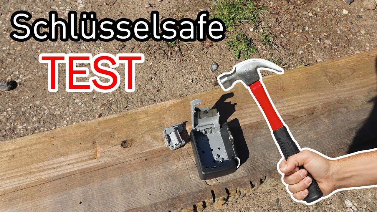 Schlüsseltresor im Test - mit dem Hammer! - YouTube