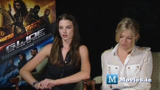 GI JOE - hot Interview with Sienna Miller & Rachel Nichols