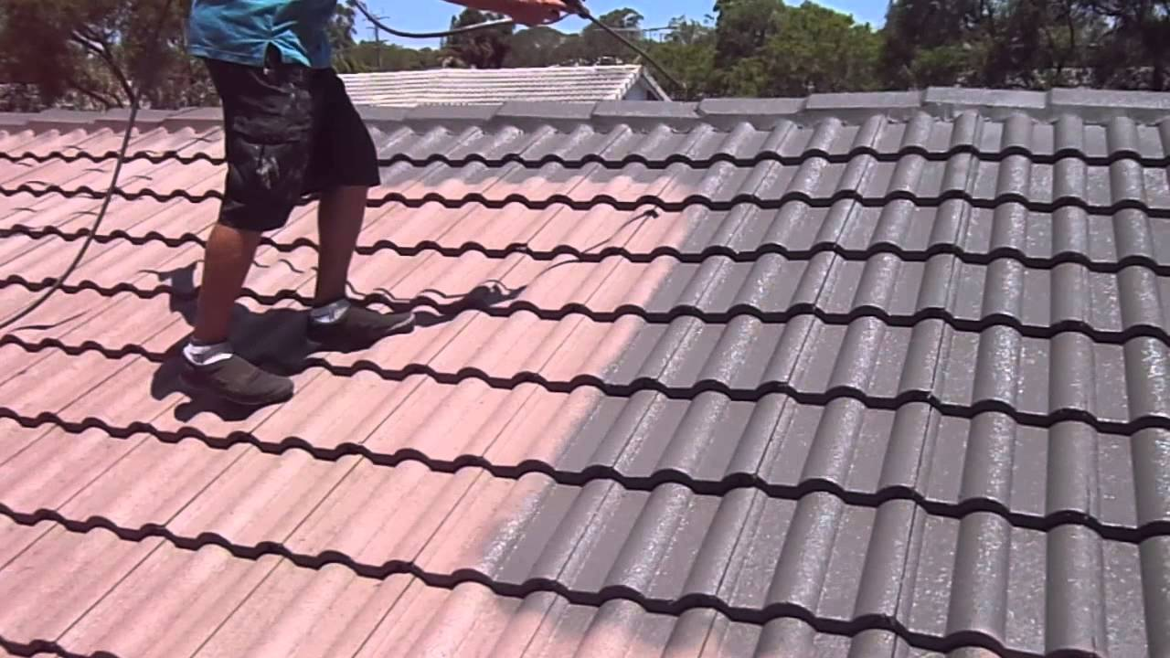 Spray Painting A Residential Roof Qpaint Brisbane
