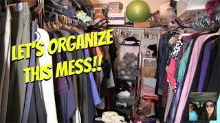 Let's Clean & Organize The Master Bedroom Super Messy Closet | PaulAndShannonsLife