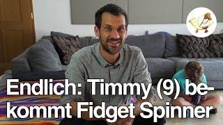 Timmy (9) bekommt endlich einen Fidget Spinner