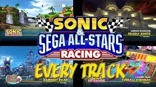 Every Track Montage in Sonic & Sega All-Stars Racing (HD)