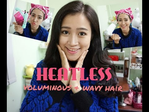 Phồng chân tóc, làm xoăn không cần nhiệt / Heatless voluminous and wavy hair