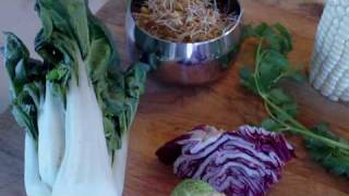 Start Your Raw Food Journey! Baby Bok Choy Salad With Sweet Corn